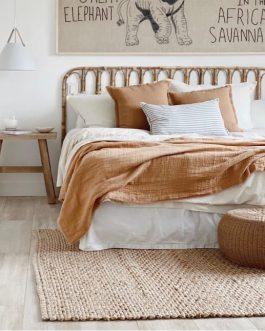 Respaldo de cama , fibras naturales